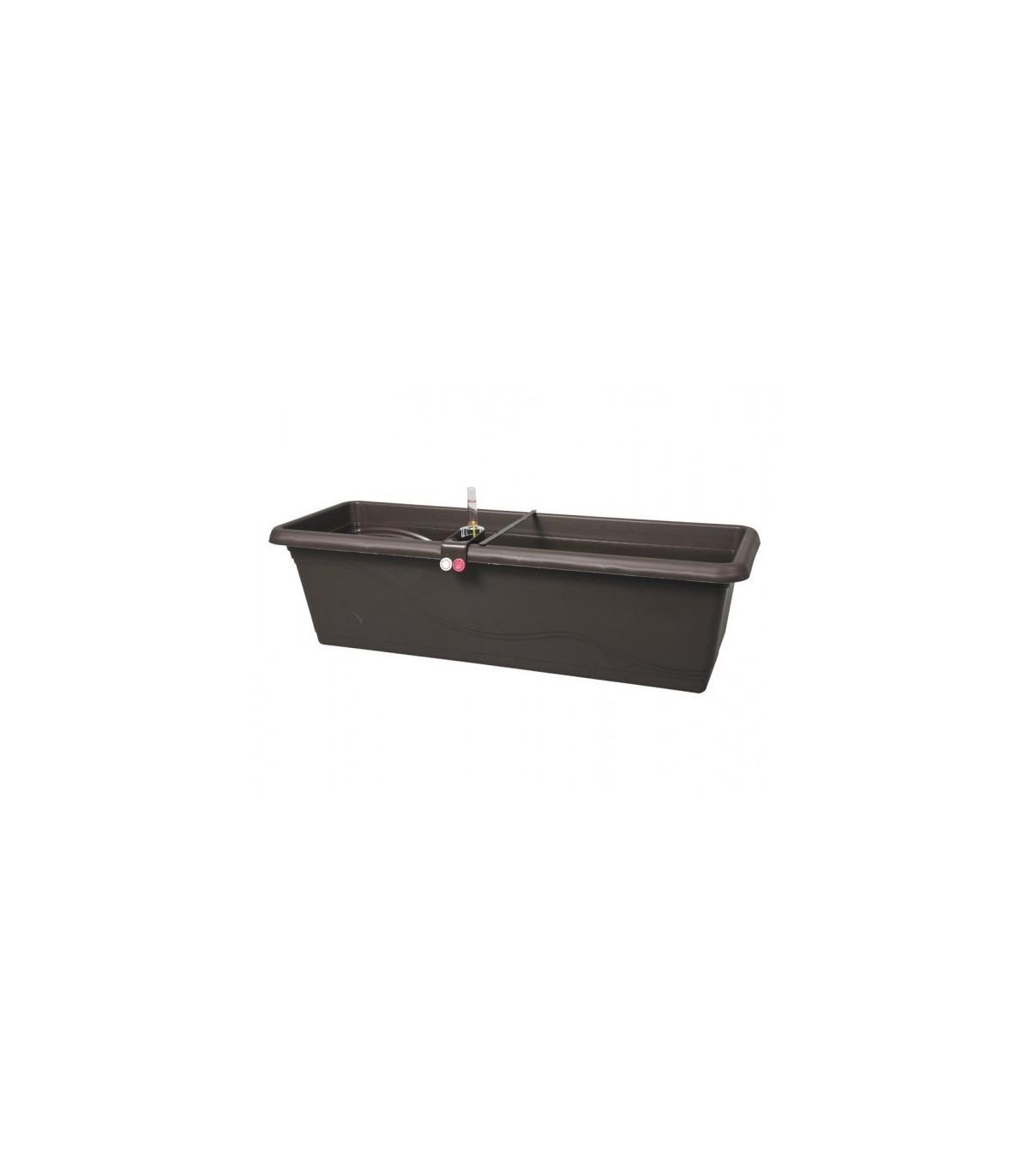 Samozavlažovací truhlík - Extra Lina Smart - hnedý - 40 cm