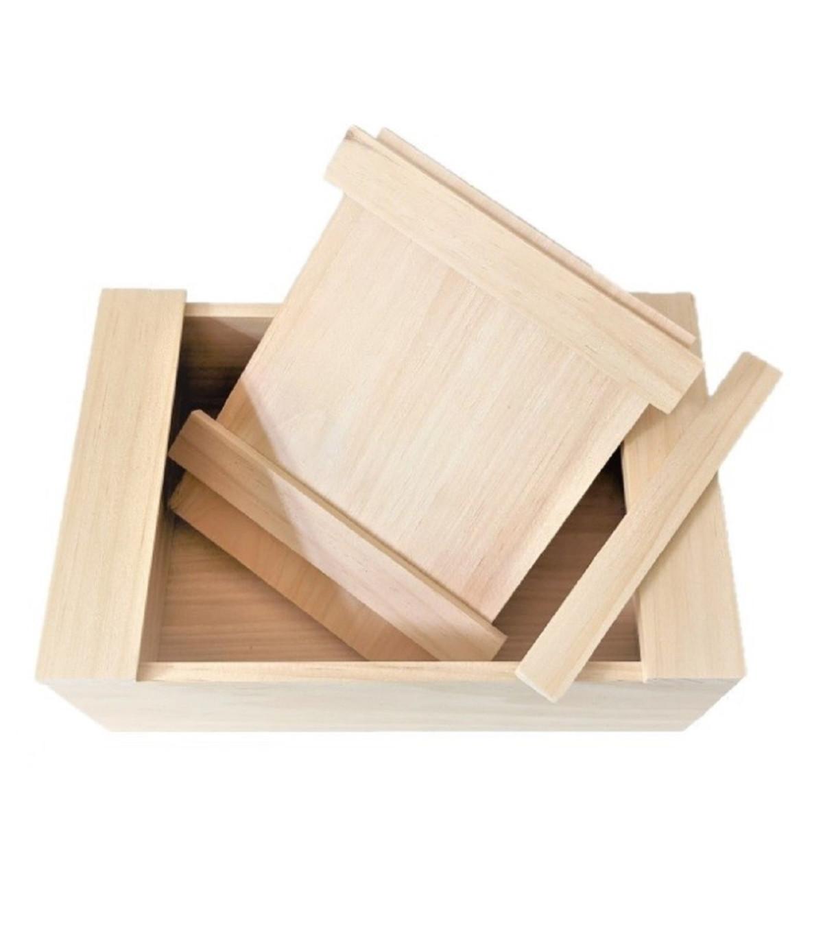 Krabička drevená - uzatvárateľný box - pomôcky na pestovanie - 1 ks